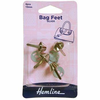 Hemline Base Nails / Bag Feet (15mm) - Nickel