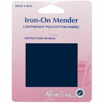 Hemline Polycotton Patch - Navy (24 x 9cm)