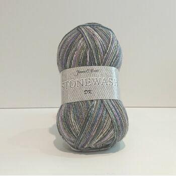 James C Brett Stonewash DK Yarn - SW7 (100g)