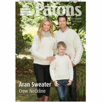 Patons Pattern: Family Aran Sweater