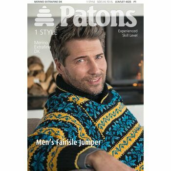 Patons Pattern: Mens Fairisle Jumper