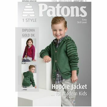 Patons Pattern: Hoodie Jacket for Modern Kids
