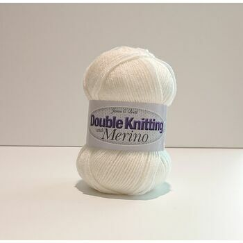 James C Brett Double Knitting with Merino Yarn - Cream - DM3 (100g)