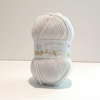 James C Brett Super Soft Baby DK - Pearl Grey - BB11 (100g)