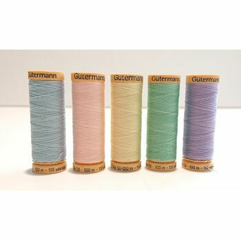 Natural Cotton Thread: 100m: Pastel Colours: Pack of 5