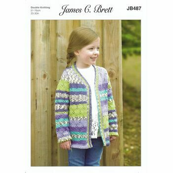 Brett Pattern - Colourful Cardigan - DK JB487