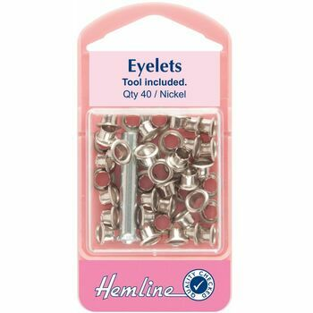 Hemline Eyelets with Tool - Nickel (5.5mm)