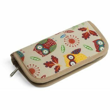 Groves Excl. Print Collection Crochet Hook Case with Bamboo Hooks - Owl