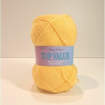 James C Brett Top Value - Warm Yellow - 8459 - 100g