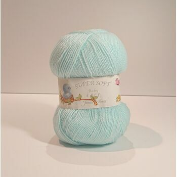 James C Brett Super Soft - 4 Ply - Aqua Blue - BY12 - 100g