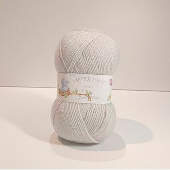James C Brett Super Soft - 4 Ply - Pearl Grey - BY11 - 100g