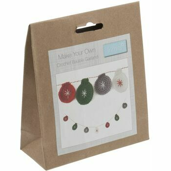 Trimits Christmas Crochet Kit - Bauble Garland