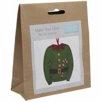 Trimits Felt Christmas Decoration Kit - Elf Jumper