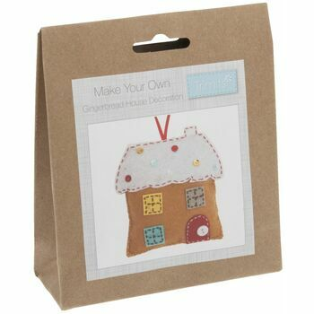 Trimits Felt Christmas Decoration Kit - Gingerbread House
