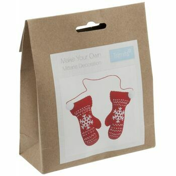 Trimits Felt Christmas Decoration Kit - Pair of Mittens