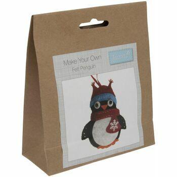 Trimits Felt Christmas Decoration Kit - Penguin