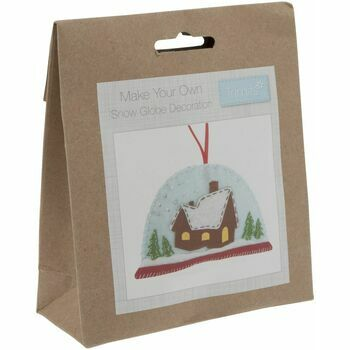 Trimits Felt Christmas Decoration Kit - Snow Globe