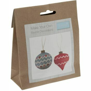 Trimits Felt Christmas Decoration Kit - Pair of Baubles