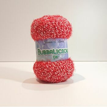 James C Brett Bubbalicious DK Yarn OU03: Red: 100g