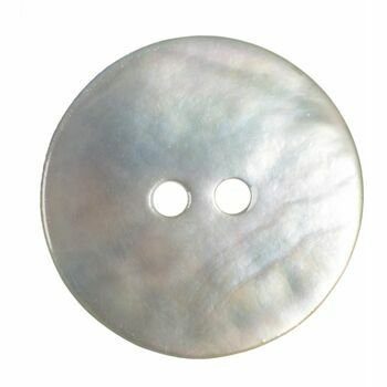 Dyed Agoya Shell Button: 28 lignes/18mm: Natural