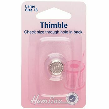Hemline Metal Thimble: Size 18 - Large