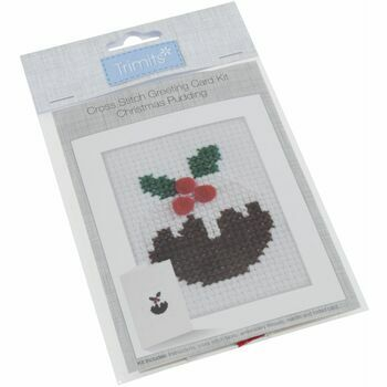 Trimits Cross Stitch Kit Card - Christmas Pudding