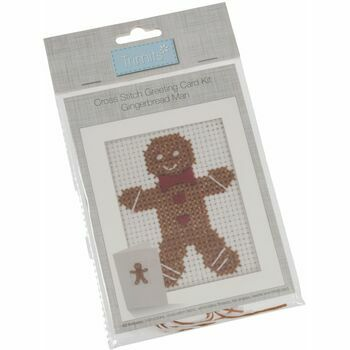 Trimits Cross Stitch Kit Card - Gingerbread Man