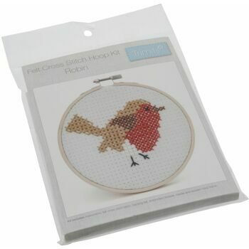 Trimits Cross Stitch Kit with Hoop - Robin