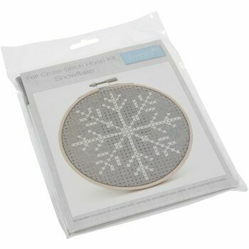 Trimits Cross Stitch Kit with Hoop - Snowflake