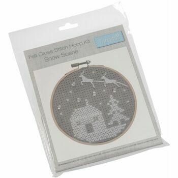 Trimits Cross Stitch Kit with Hoop - Snow Scene