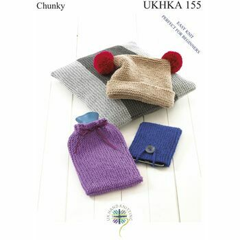 UKHKA Pattern 155: Easy Knit Perfect for Beginners: Hat, Cushion, Hot Water Bottle and Phone Covers