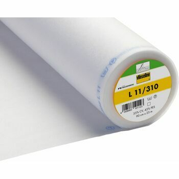 Vilene: Sew-In Interlining Standard Light (L11/310): 90cm: White: Per metre