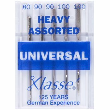 Klasse Universal Heavy Sewing Machine Needles - Assorted (5 Pieces)