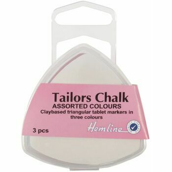 Hemline Tailors Chalk Triangle - Assorted Colours (Pack of 3)