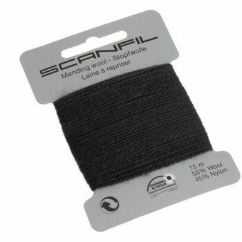 Scanfil: Mending Wool 15m: Dark Grey/Charcoal