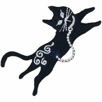 Trimits Iron On & Sew On Motif - Black Cat