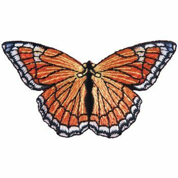 The Craft Factory Iron On Motif - Orange Butterfly