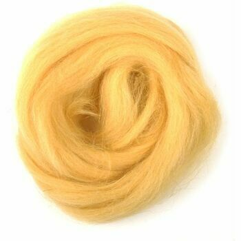 Trimits Natural Wool Roving (10g) - Yellow