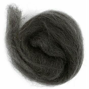 Trimits Natural Wool Roving (10g) - Graphite
