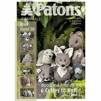 Patons Wool Blend DK Pattern Book 3825 - Cute Animals