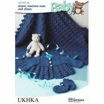 UKHKA Pattern DK n.48: Shawl, Matinee Coat and Shoes