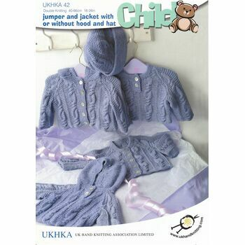 UKHKA Pattern No.42: Child: Pattern: Jumper, Jacket and Hat