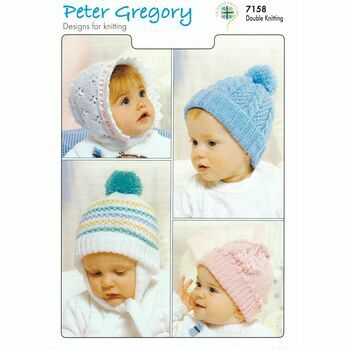 Peter Gregory Pattern No.7158: Baby Hats: DK