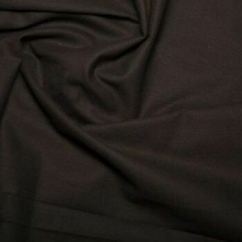 Black Plain 100% Cotton: Plain Dyed: 60 Square: 150cm Wide: Per Metre