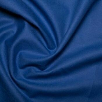 Royal Blue 100% Cotton: Plain Dyed: 60 Square: 150cm Wide: Per Metre