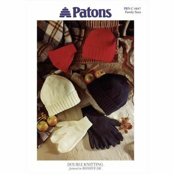 Patons Hat, Mitts and Gloves Pattern - Family Sizes in DK