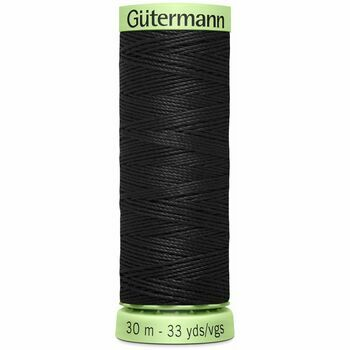 Gutermann Col. 000: Black Topstitch Polyester Thread (30m)