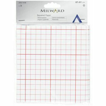 Milward Dressmakers Squared Pattern Paper (87 x 61cm) - 3 Sheets