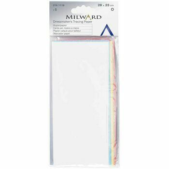 Milward Dressmakers Tracing Paper - 4 Cols (28 x 23cm)