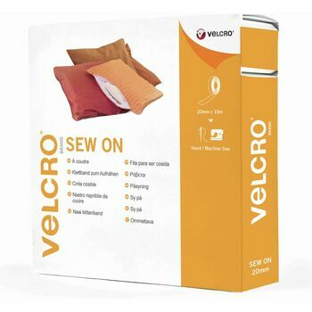 Velcro Hook & Loop Tape Sew-On: 20mm: Black: Per Metre